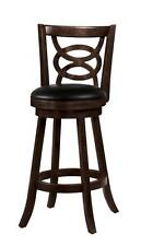 Solid Wood Merlot Swivel Bar Stool Chair by Coaster 101930 - Set of 3