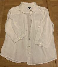 Jaeger White Linen Shirt Size 14
