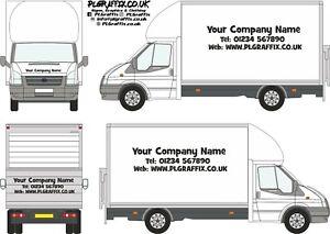 Luton Van Sign Writing decal kit vehicle advertisement business