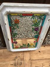 French Vintage Mirror with Flowers in the Design