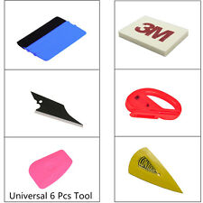 6pcs Universal Car Body Window Film Wrap Application Vinyl Tool Felt Cutter Tool