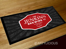Personalised vintage Brewery Bar runner mat, pub beer mat
