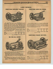 1927 PAPER AD 2 Sided Pennsylvania Push Reel Lawn Mower Super Great American