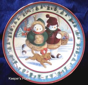 Princess House FROSTY FRIENDS Porcelain Plate Japan Special Edition 1999 Mint