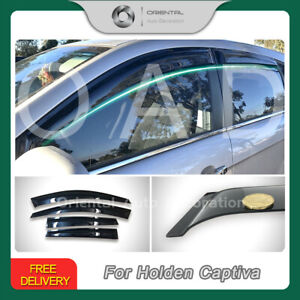 Premium Weather Shields Window Visors Weathershields for Holden Captiva 06-19