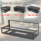 6/8/12 GPU Mining Rig Open Air Steel Miner Rig Case Parts Frame For Crypto Coin