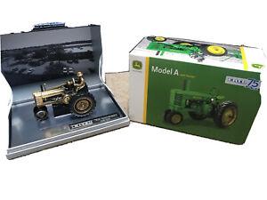 John Deere Gold A w/ Man 1 Of 750 75th Anniversary Tractor 1/32 2020 Rare!
