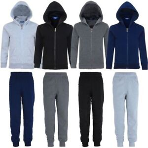 Boys Plain Tracksuit Trousers or Jumper Sizes 3-16 Years