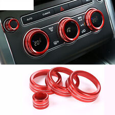 For Range Rover Sport Vogue Red Air Conditioning Knob Ring Trim 2014-2017 4pcs