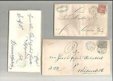 Braunschweig / WOLFENBÜTTEL blauer K2 a. DS-Brf. 1861, je Grot.-K2 a. Brf. m NDP