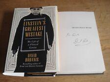 Einstein's Greatest Mistake: by David Bodanis,SIGNED COPY HARBACK 2016