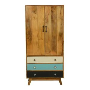 MADE TO ORDER Avalon Indian Solid Wood Cabinet With Shelves and Dra75x35x160 cm