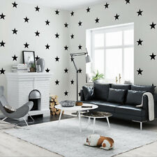 Mediterranean Cartoon Style Stars Pattern Non-woven Children's Room Wallpaper