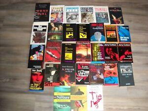30 x Taschenbücher / Konvolut - Krimis / Thriller