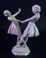 Hutschenreuther Kunst - zwei tanzende Mädchen