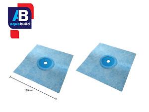 2x AquaBuild 12cm Elastic Waterproof Sealing Sleeve Membrane Pipe Collar 1-3cm Ø