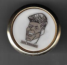 "1960 John F. Kennedy Cartoon Artwork Image Tie Clasp With Wording of ""Sen."""