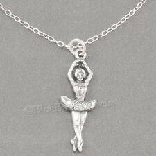 BALLERINA DANCER Charm Pendant 925 STERLING SILVER Ballet Dance & .925 Necklace