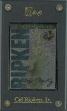Cal Ripken, Jr. unsigned Baltimore Orioles 24 Karat Gold Sig Card 2131 Con Games