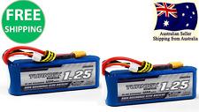 2 Pack Turnigy 1250mAh 3S 30C 11.1v LiPo Pack Battery XT60 plug RC Plane Drone
