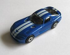 Maisto Dodge Viper GTS Coupe Daimler Chrysler Die Cast Metal Blue Supercar, 1997