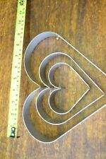 set of 3 heart dams/moulds made of 1.2 grade 304 s/s