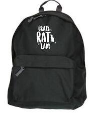 Crazy rat lady kit bag backpack ruck sack school college uni