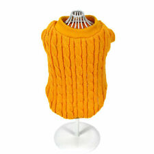 Solid Warm Dog Knit Sweater Pet Clothes Winter Small Large Dog Chihuahua Coat