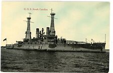 Military/Navy Ship -USS SOUTH CAROLINA-H.H. Stratton Postcard U.S.S.