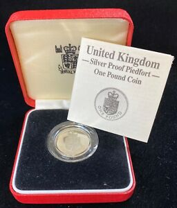 1988 Great Britain 1 Pound Silver Proof Piedfort  Royal Shield