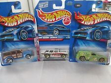 Lot of 3 Hot Wheels 40s Woody, Tag Rides Fandango and Chevy Nomad Diecast Cars