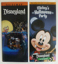 DISNEYLAND PARK 2013 Guide Map HAUNTED MANSION & MICKEYS HALLOWEEN PARTY Pair