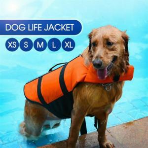 Pet Dog Life Jacket  Buoyancy Aid Pet Swimming Boating Swim Training Vest UK