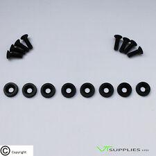 Plain Black M6 Anodized Aluminium Fender Washer Kit for Engine - Black Bolts