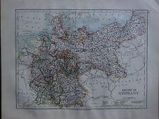1900 Victorien Carte ~ Empire de Allemagne Bavière Wurtemberg