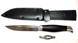 Russian knife Finkа NKVD, Titanium 95h18, the knife disassembled, handle wood