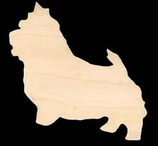 "Dog Norwich Terrier Shape 4"" Craft Wood #1098-4"