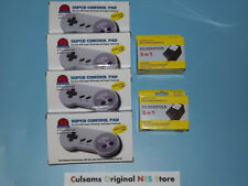 4 New Super Nintendo Snes Controllers And 2 New Ac Power Adapters With Guarantee