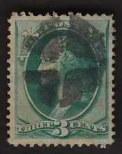 US BOLD FANCY CANCEL 3c Bank V or Heart Wedges A5
