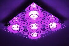 Plafonnier Design Carré Lustre LED moderne Changeur de couleur Luminaire 63065