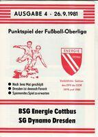 OL 81/82  BSG Energie Cottbus - SG Dynamo Dresden