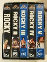 Rocky Film Series (1 to 5) VHS 1995 Box Set Stallone MGM/UA Home Video