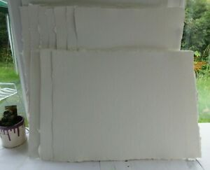 Two Rivers Handmade Watercolour Paper 5 Sheets 15 x 11 inches 300lb 630gsm NOT