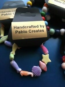 Child Sealife Bracelet, Fish, Starfish, Shells, Multi-coloured, Small wrist size