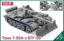 T-55 A WITH BTU-55 PLOUGH (SOVIET & FINNISH MKGS) #237  1/35 SKIF RARE