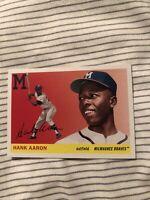 hank aaron topps archives 2020 #100 Milwaukee Braves MINT CONDITION ATLANTA HOF