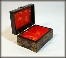 """""""Small Hand Made Wooden Jewelry Chest from China"""" (5.5""""W x 4""""D x 3"""" H)"""