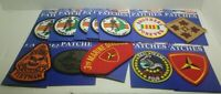 Lot of 12 new military  sew on iron on Patches for resale free shipping 1a 5A