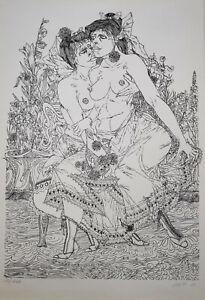 """Schütt, Franz-Theodor (1908 Berlin-1990 Wiesbaden) """"Freundinnen"""" Lithografie1969"""