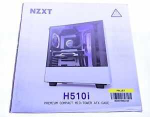 NZXT - H510i Compact ATX Mid-Tower Case with RGB Lighting - Matte White